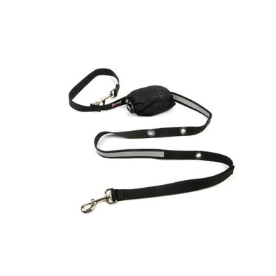 "Optional Hands-Free Lead - Reflective Black - 1"" Width - 6'"