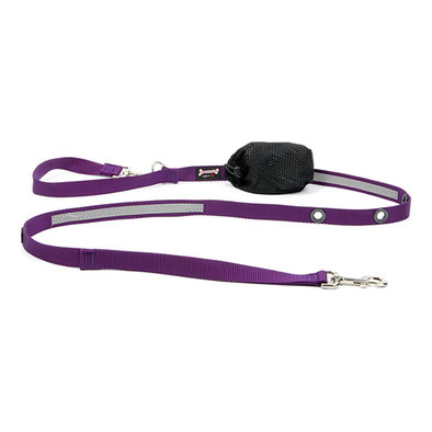 "Optional Hands-Free Lead - Reflective Purple - 1"" Width"