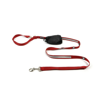 "Optional Hands-Free Lead - Reflective Red - 1"" Width - 6'"
