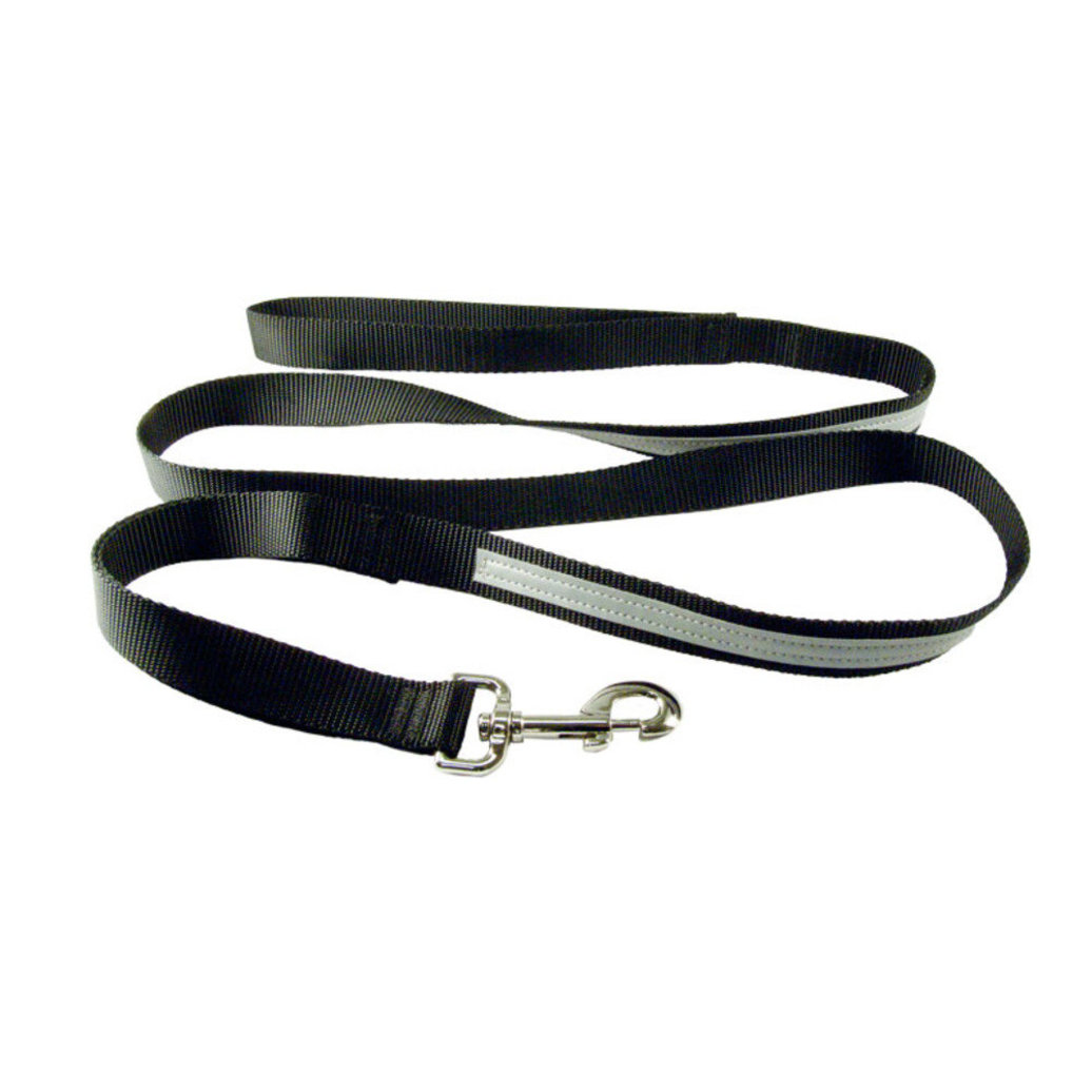 "View larger image of Regular Style Reflective Lead - Black - 1"" Width - 6'"