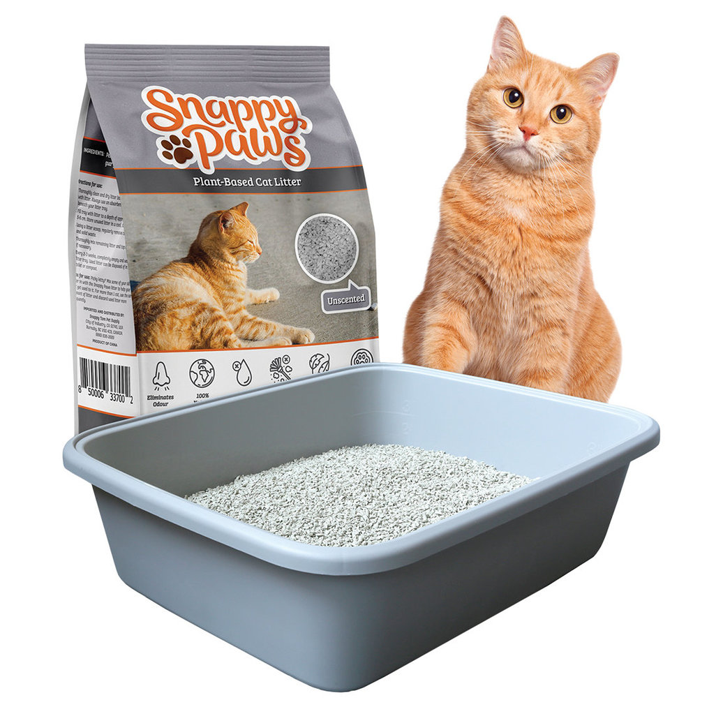 View larger image of Snappy Paws, Plant Based Cat Litter-Unscented-4 kg
