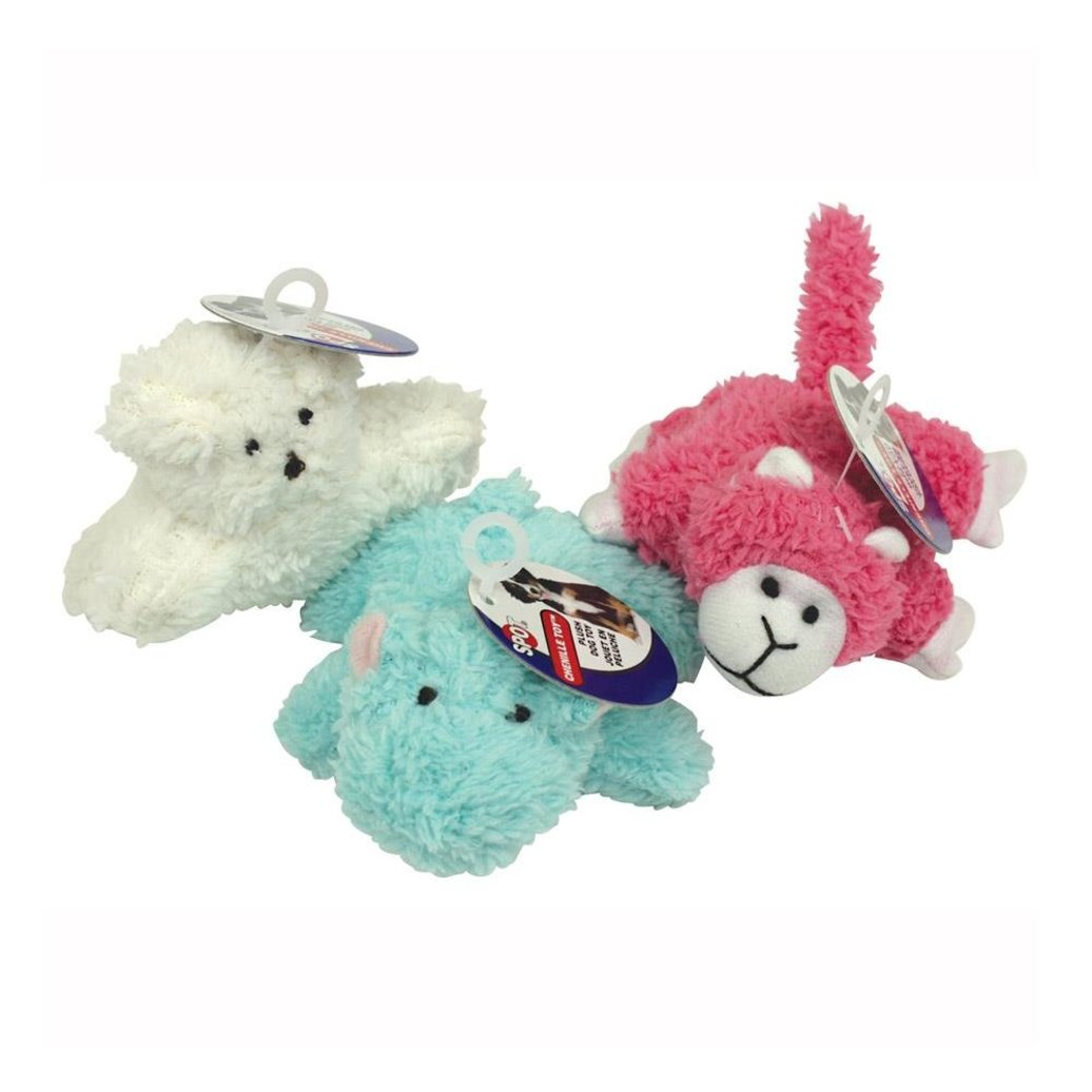 View larger image of Puppy/Small Dog Chenille Toys - 4.75""