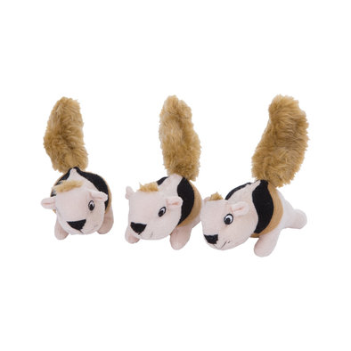 Squeakin' Animals Squirrel - Brown - 3 Pk