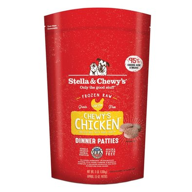 Dog Frozen Raw, Chewy's Chicken Dinner Patties