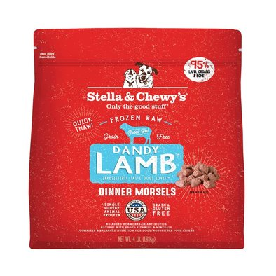 Dog Frozen Raw, Dandy Lamb Dinner Morsels - 1.81 kg