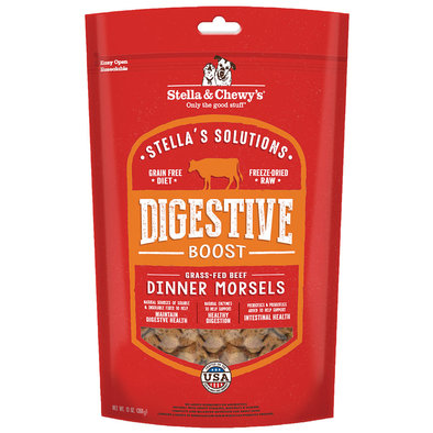 Dog Freeze-Dried Raw Stella's Solutions, Digestive Boost Dinner Morsels - 368 g