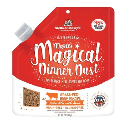 Dog Freeze-Dried Raw, Marie's Magical Dinner Dust, Grass-Fed Beef Recipe - 198 g