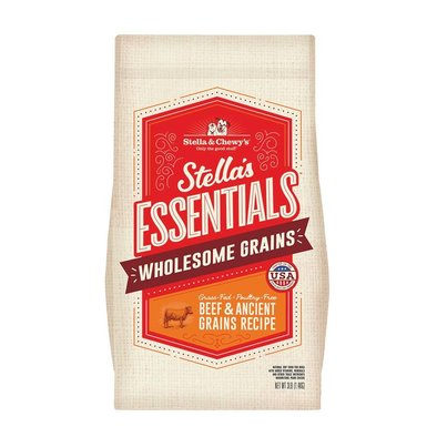 Dog Stella's Essentials Kibble, Grass-Fed Beef & Wholesome Grains Recipe