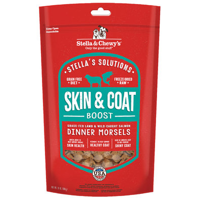 Dog Freeze-Dried Raw Stella's Solutions, Skin & Coat Boost Dinner Morsels - 368 g