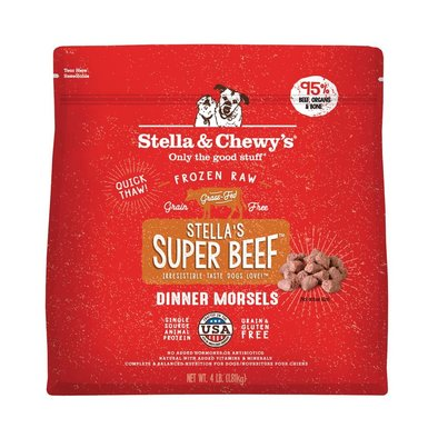Dog Frozen Raw, Stella's Super Beef Dinner Morsels - 1.81 kg