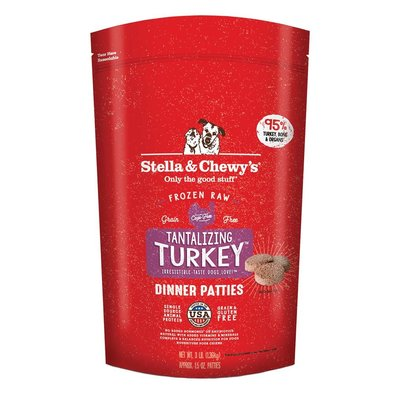 Dog Frozen Raw, Tantalizing Turkey Dinner Patties - 1.36 kg