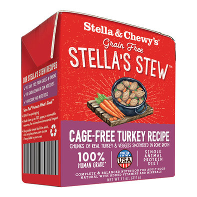 Dog Stella's Stew, Cage Free Turkey Recipe - 312 g