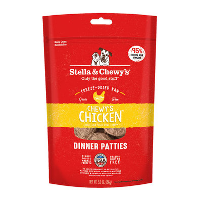 Dog Freeze-Dried Raw, Chewy's Chicken Dinner Patties