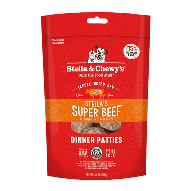 Dog Freeze-Dried Raw, Super Beef Dinner Patties