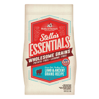 Dog Stella's Essentials Kibble with Wholesome Grains, Grass-Fed Lamb Recipe