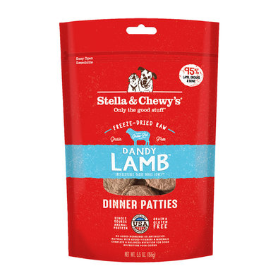 Dog Freeze-Dried Raw, Dandy Lamb Dinner Patties