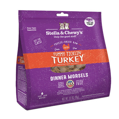 Cat Freeze-Dried Raw, Tummy Ticklin Turkey Dinner Morsels
