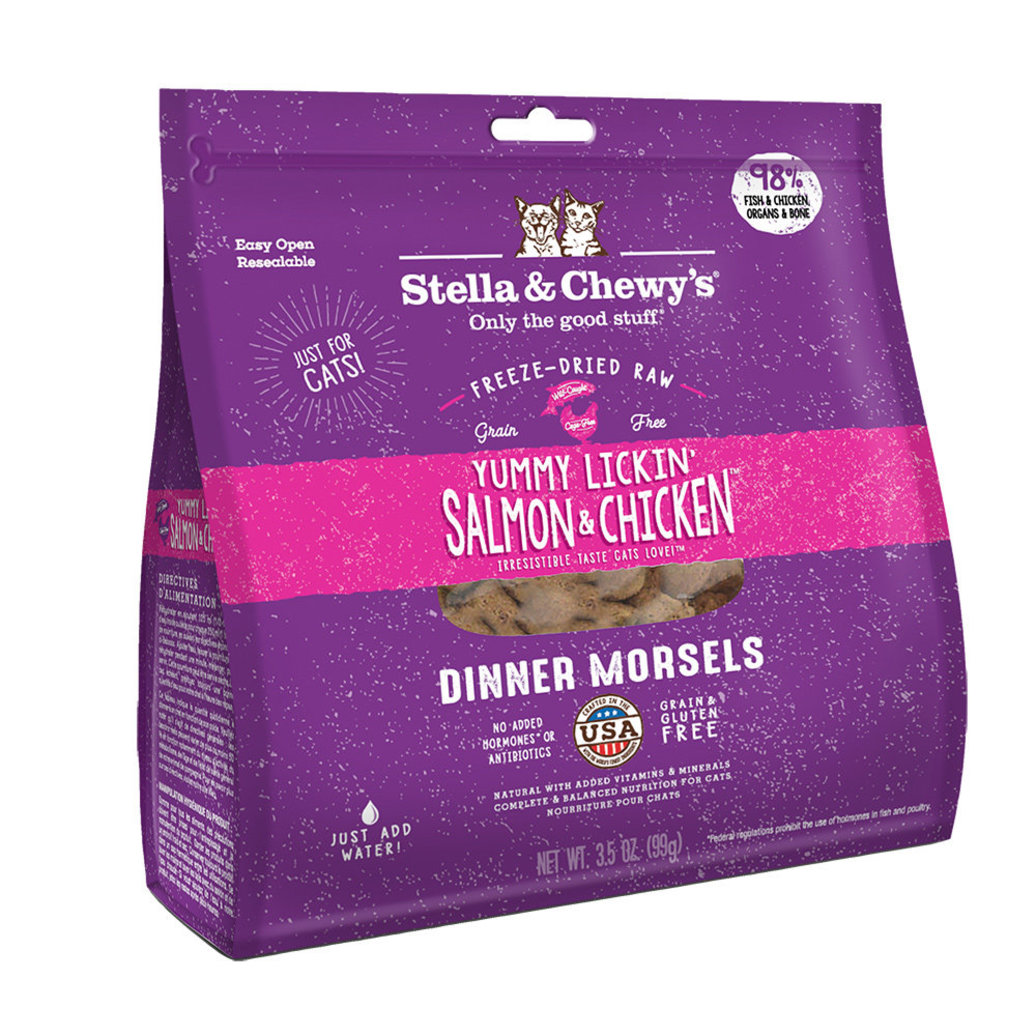 View larger image of Cat Freeze-Dried Raw, Yummy Lickin' Salmon & Chicken Dinner Morsels - 99 g