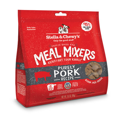 Dog Freeze-Dried Raw, Purely Pork Meal Mixers