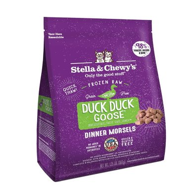 Cat Frozen Raw, Duck Duck Goose Morsels - .56 kg