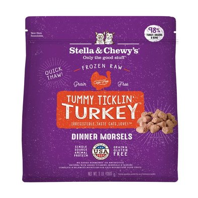 Cat Frozen Raw, Tummy Ticklin' Turkey Morsels - 1.36 kg