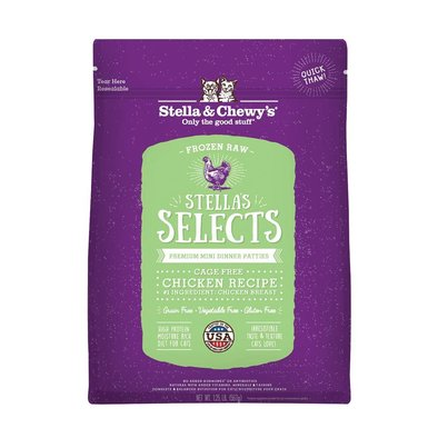 Cat Frozen Raw, Stella's Selects Chicken - .45 kg