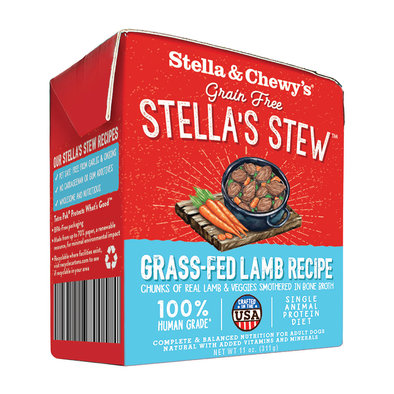 Dog Stella's Stew, Grass Fed Lamb Recipe - 312 g