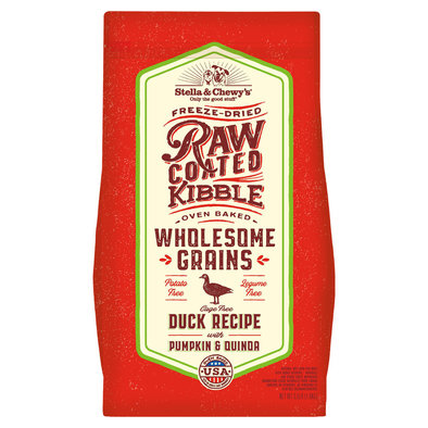 Dog Raw Coated Kibble with Wholesome Grains, Cage-Free Duck Recipe
