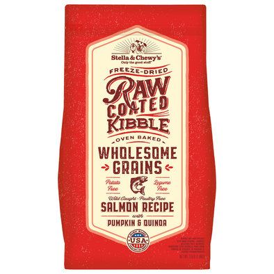 Dog Raw Coated Kibble with Wholesome Grains, Wild-Caught Salmon Recipe