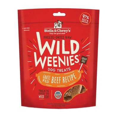 Freeze-Dried Raw Beef Wild Weenies Dog Treats - 92 g