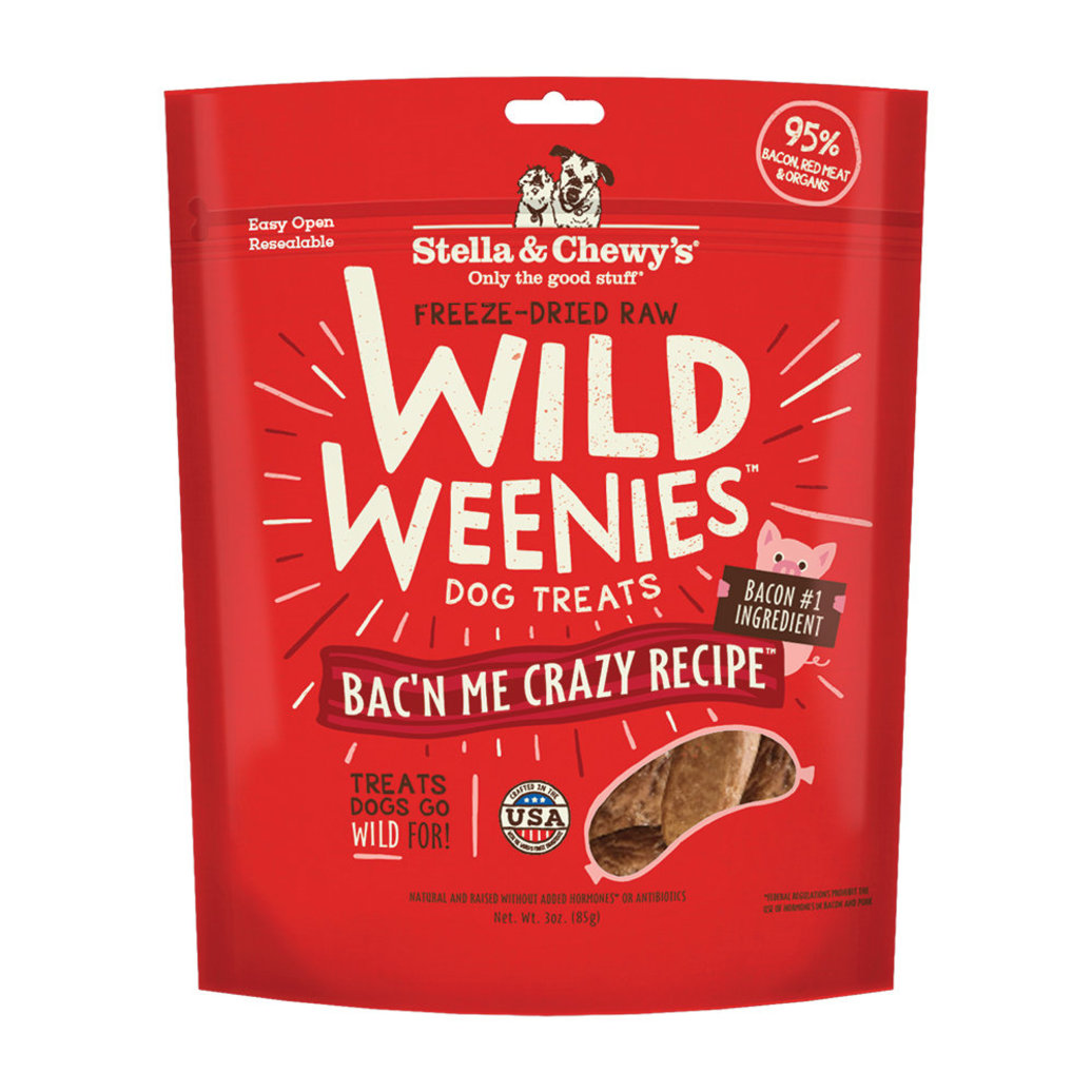 View larger image of Freeze Dried Raw Bac'n Me Crazy Wild Weenies Dog Treats