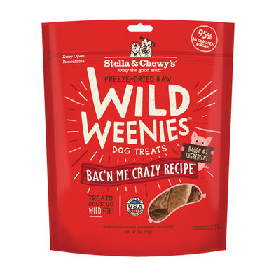 Freeze Dried Raw Bac'n Me Crazy Wild Weenies Dog Treats