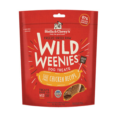 Freeze-Dried Raw Chicken Wild Weenies Dog Treats