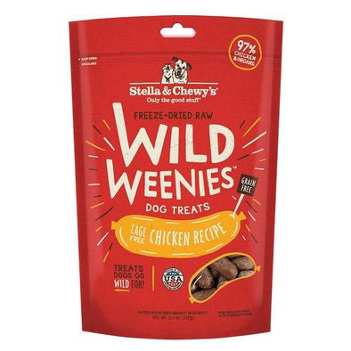 Freeze-Dried Raw Chicken Wild Weenies Dog Treats - 326 g