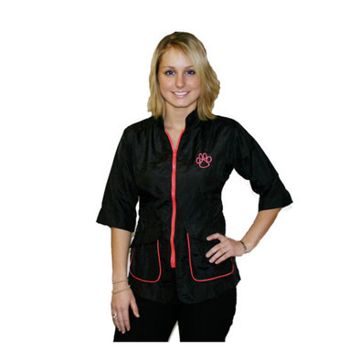 Contrast Jacket - Black & Hot Pink