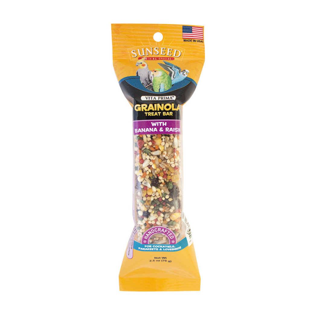 View larger image of Grainola Bar, Banana & Raisin for Cockatiels, Parakeets & Lovebirds - 2.5 oz