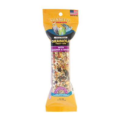 Grainola Bar, Banana & Raisin for Cockatiels, Parakeets & Lovebirds - 2.5 oz