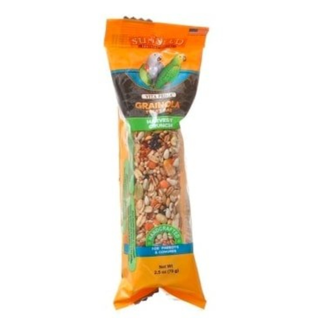 View larger image of Grainola Bar, Harvest Crunch for Parrots and Conures - 2.5 oz