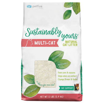 Sustainably Yours, Natural Biodegradable Litter - MultiCat