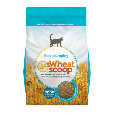 Fast-Clumping Unscented Natural Clumping Wheat Cat Litter