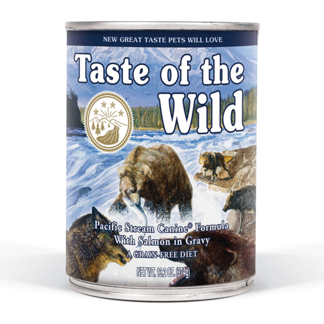 View larger image of Canned Dog Food, Pacific Stream with Smoked Salmon in Gravy - 13.2 oz