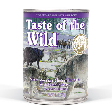 Canned Dog Food, Sierra Mountain with Roasted Lamb in Gravy - 13.2 oz