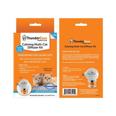 Thunderworks, Feline Thunder Ease Diffuser Kit - Multi Cats