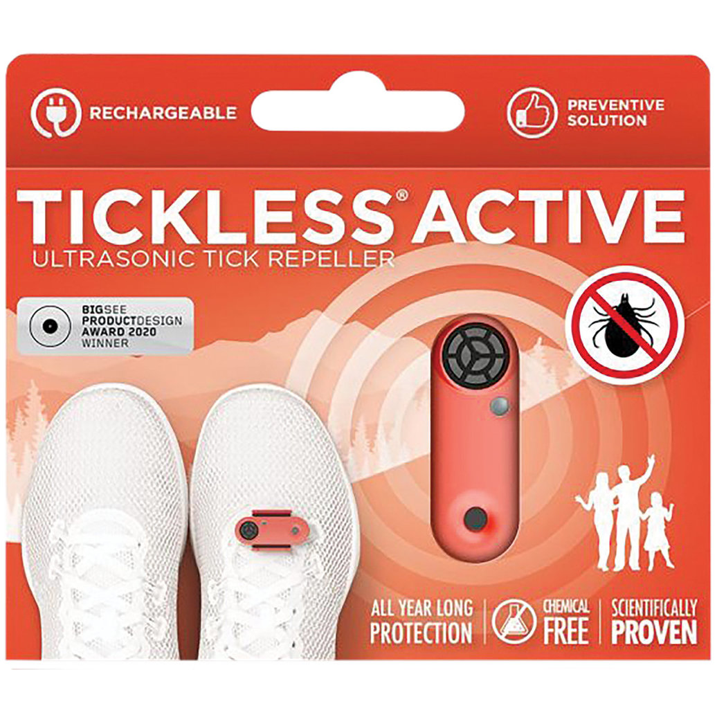 View larger image of Active Rechargeable Ultrasonic Tick & Flea Repellent - Coral
