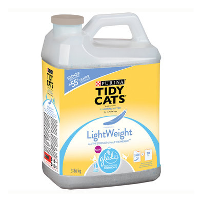 Tidy Cat, Clumping Lightweight Litter with Glade - 3.86 Kg