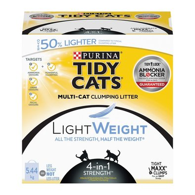 LightWeight 4-in-1 Strength Clumping Cat Litter for Multiple Cats