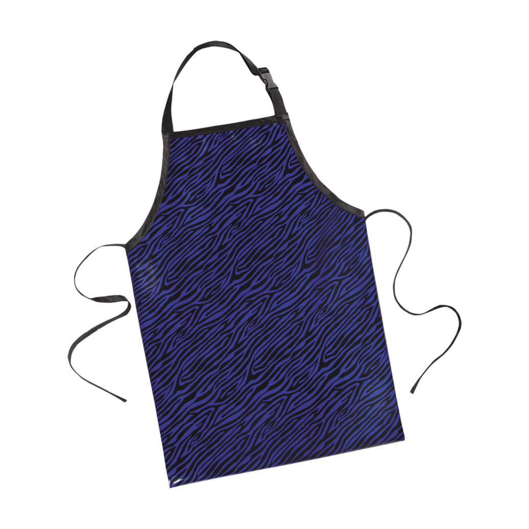 View larger image of Printed Value Apron Zebra - Blue
