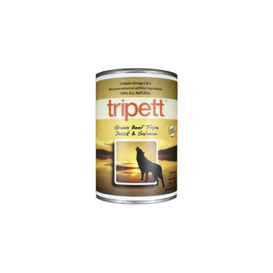Canned Dog Food, Beef Tripe with Duck & Salmon