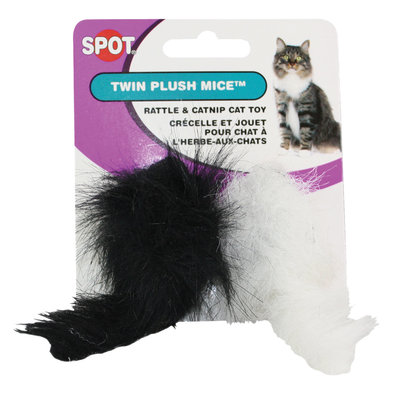 Twin Plush Mice Rattle & Catnip - 2 Pack