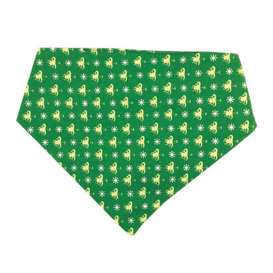 Bandana, Reversible - Green Trees & Snowflakes